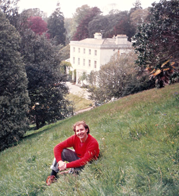 1989: Jared Cade in the grounds of Greenway, Agatha Christie's summer residence in Devon.
