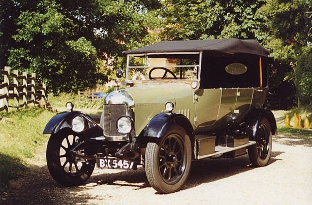 Philip Garnons-Williams's Morris Cowley car in which Jared Cade restaged Agatha Christie's eventful journey on the night of the disappearance.